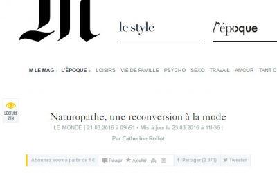 Naturopathe, une reconversion à la mode